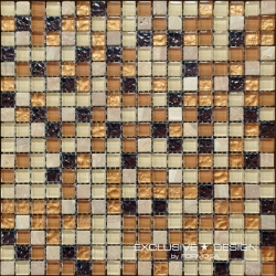 Glass & Stone mosaic 8 mm No.7 A-MMX08-XX-007 30x30