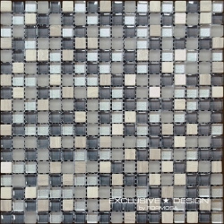 Glass & Stone mosaic 8 mm No.9 A-MMX08-XX-009 30x30